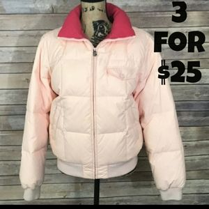 GANT Down Filled Pink Bomber Jacket L